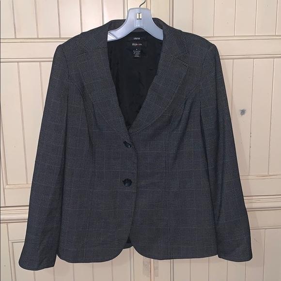Style & Co Jackets & Blazers - Style & Co Dark Gray Stretch Blazer